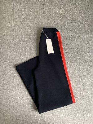 Stella McCartney Pantalone palazzo blu scuro-rosso scuro