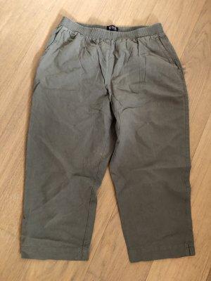 W.O.B Capris green grey-khaki cotton