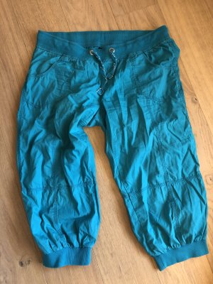1982 7/8 Length Trousers cadet blue-turquoise cotton