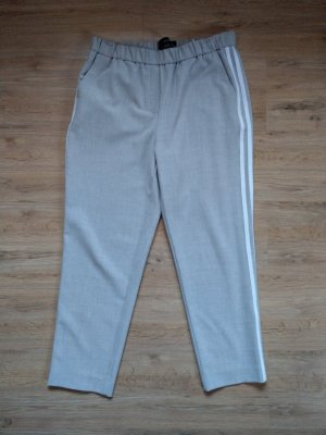 Hose Stoffhose grau weiß Streifen Reserved