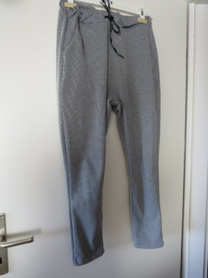 Made in Italy Pantalone fitness nero-bianco Cotone