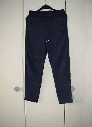 Hose, Stoffhose, Sommerhose in dunkelblau, Gr. 34/36/XS