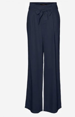 Vero Moda Falda pantalón de pernera ancha azul oscuro