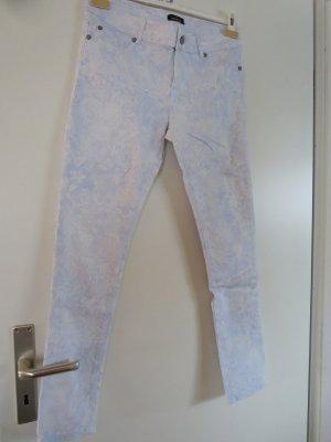Hose Stretch slim hellblau-weiß Paisley Mustermix