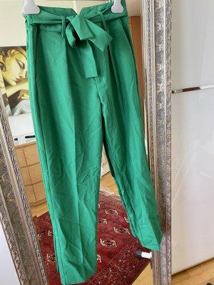Tally Weijl Spodnie z wysokim stanem zielony