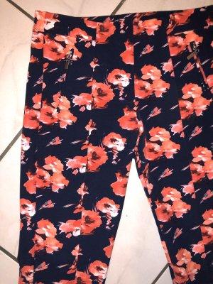 Pantalón elástico azul-rojo