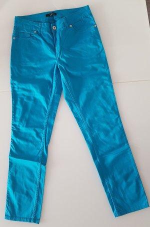 Comma Pantalón de cinco bolsillos turquesa Algodón