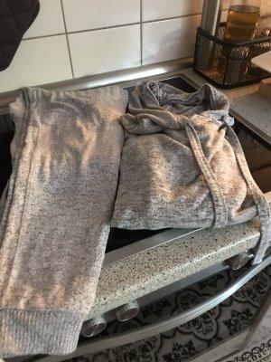 Star Gazer Twin set in tessuto grigio chiaro