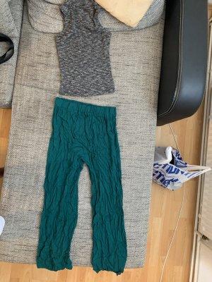 High Waist Trousers green
