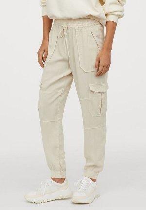H&M Pantalone cargo multicolore Lyocell