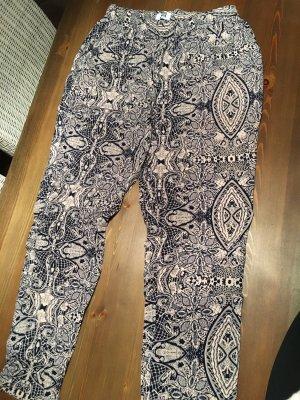 Vero Moda Pantalone bloomers grigio scuro-rosa antico
