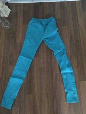 Vero Moda pantalón de cintura baja turquesa
