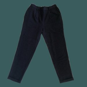 Colosseum Hoge taille broek donkerblauw-wit