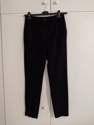 Massimo Dutti High Waist Trousers dark blue cotton