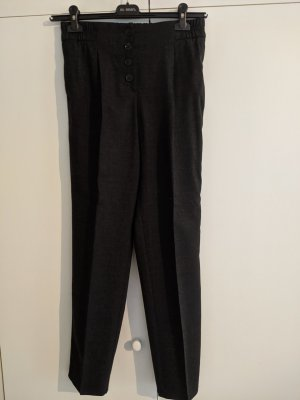 Massimo Dutti Woolen Trousers anthracite wool