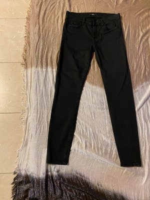 7 For All Mankind Jeans skinny nero Cotone