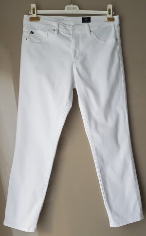 Adriano Goldschmied 7/8 Length Trousers white cotton