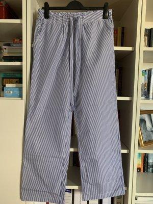 Anine Bing Pantalone a zampa d'elefante bianco-blu