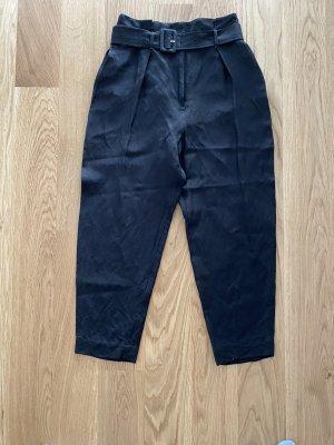 ARKET Pleated Trousers black linen