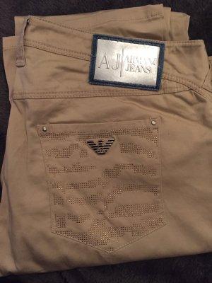 Armani pantalón de cintura baja crema
