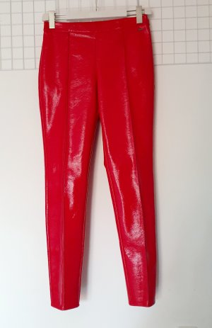 Armani Exchange Pantalon en cuir rouge polyester