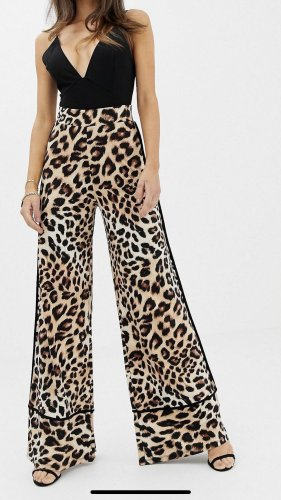 Asos High Waist Trousers black-brown