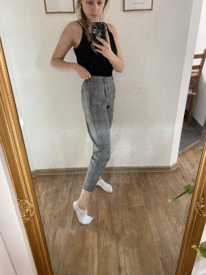Bershka Peg Top Trousers black-grey