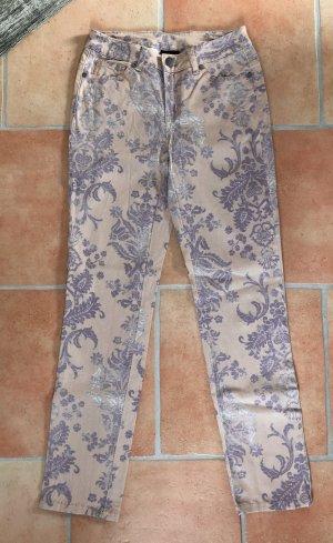 b.c. best connections Pantalon cinq poches abricot-violet coton