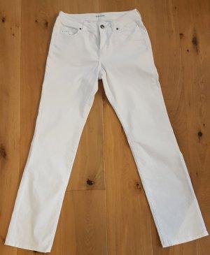 Biaggini Spodnie z wysokim stanem biały