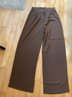 Boohoo Jersey Pants brown-dark brown
