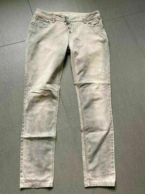 Buena Vista Jeans met rechte pijpen donkergrijs Katoen