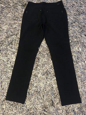 Cambio Jeans Spodnie ze stretchu czarny-ciemnoniebieski