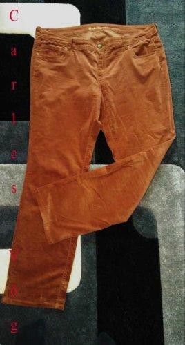 Charles Vögele Spodnie z pięcioma kieszeniami rudy-cognac