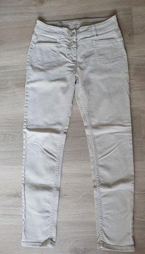 Closed Drainpipe Trousers cream