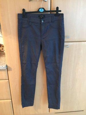 Comma Pantalon cinq poches bleu foncé