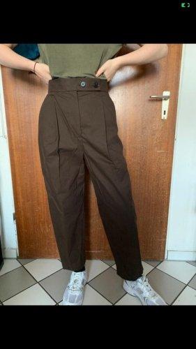 Hose von Cos Grösse 34 braun Baumwolle high waist
