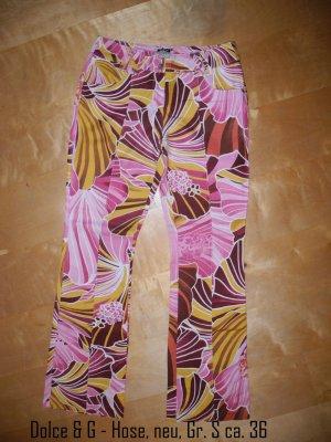 Dolce & Gabbana Five-Pocket Trousers multicolored mixture fibre