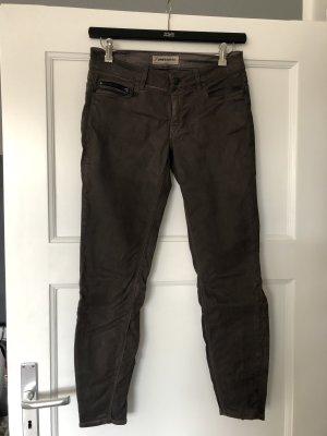 Drykorn Spodnie z pięcioma kieszeniami taupe-szaro-brązowy