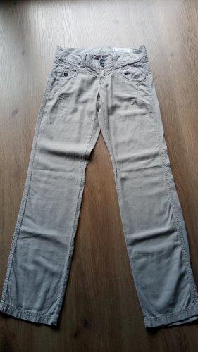 edc Pantalon en lin beige-gris vert