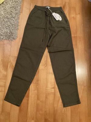 Esprit Pantalon en lin kaki-gris vert lin