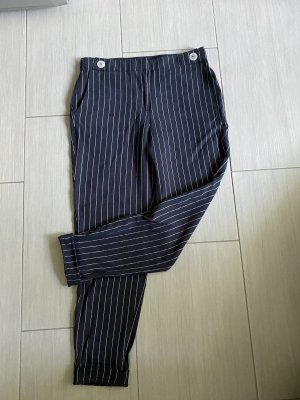 Esprit Kaki broek donkerblauw-wit