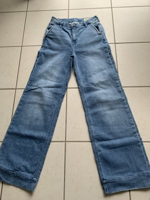 Esprit Pantalone palazzo blu fiordaliso Cotone