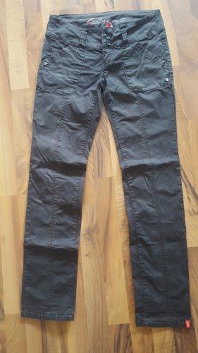 edc by Esprit pantalón de cintura baja marrón oscuro