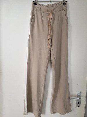 esvivid Pantalon pattes d'éléphant crème
