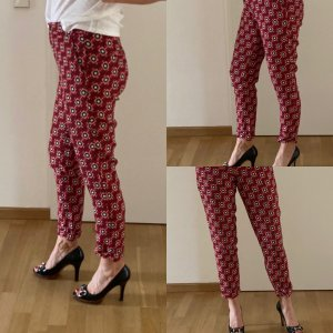 Etro 7/8 Length Trousers black-red