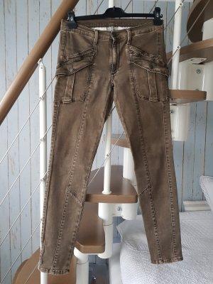 7 For All Mankind Spodnie rurki oliwkowy