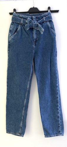 H&M Pantalón abombado azul-azul oscuro