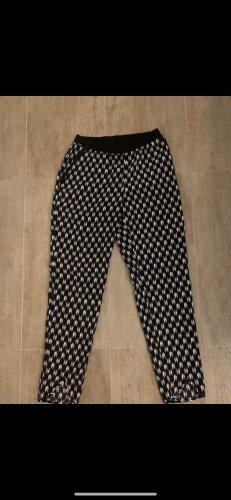 H&M Pantalone palazzo bianco-blu scuro