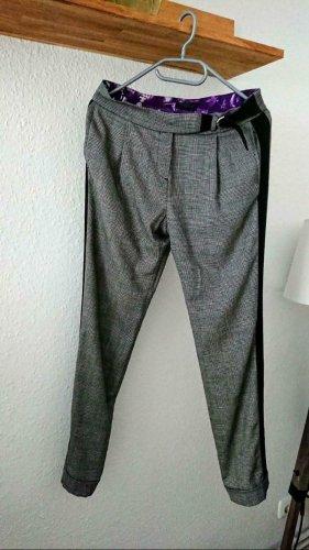 John Richmond Wełniane spodnie szary-jasnoszary