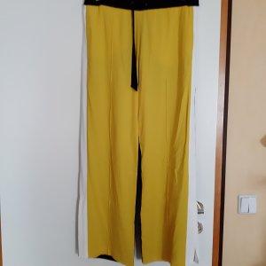 Laurèl Pantalone Marlene nero-giallo